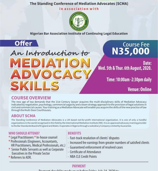 Introduction to Mediation Advocacy Skills